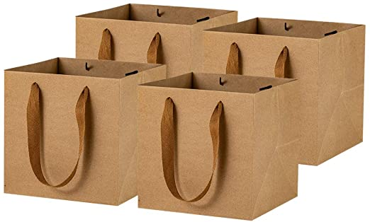 mẫu túi giấy đáy vuông