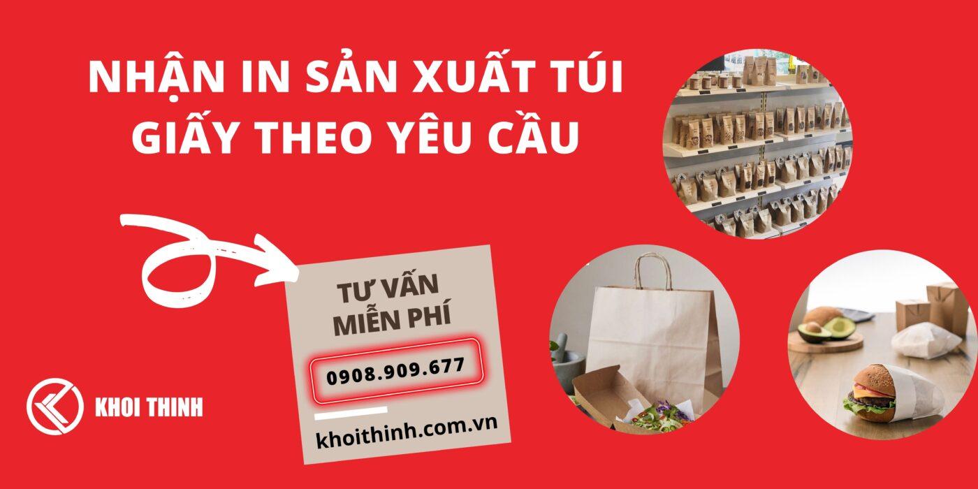 sản xuất túi giấy theo yêu cầu